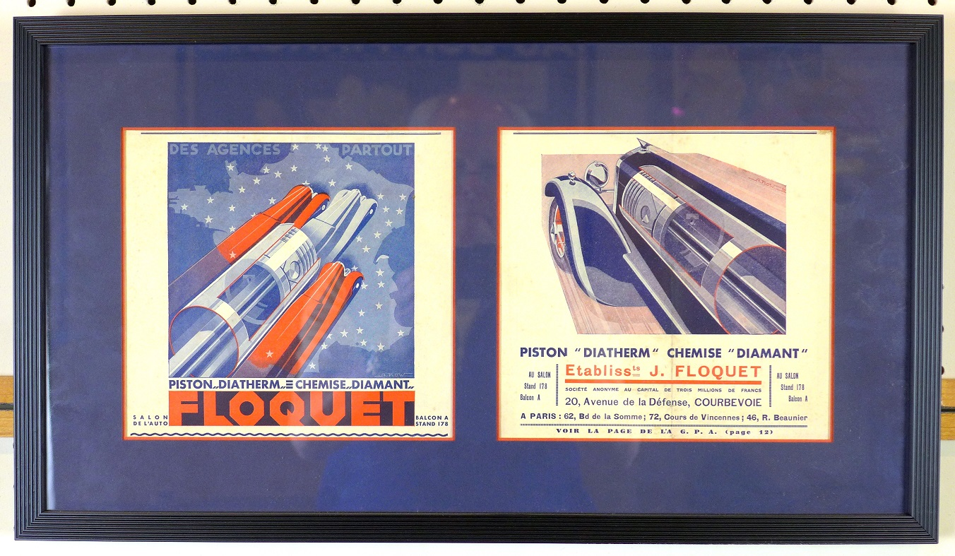 Piston ads by Alexis Kow original vintage advertising