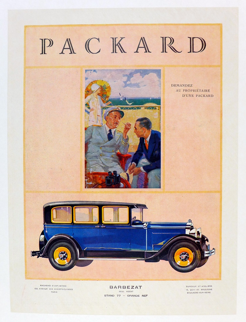 Packard original vintage advertising poster