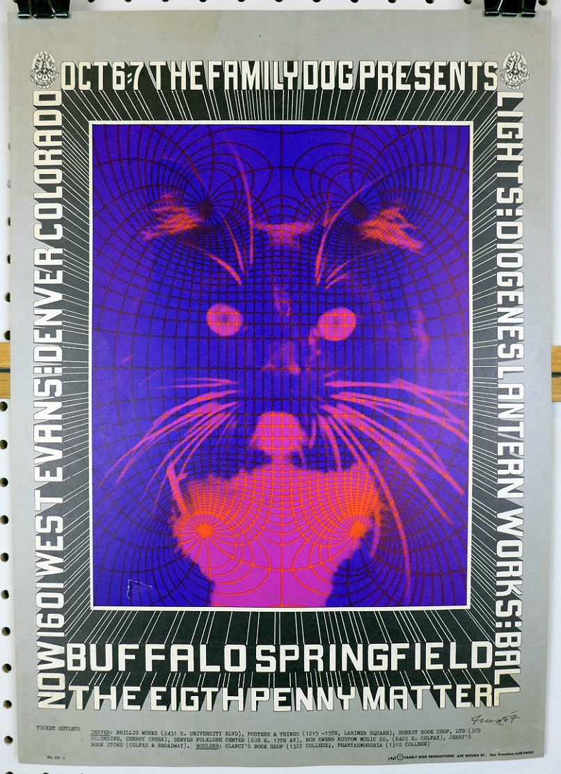 Buffalo Springfield at The Family Dog original vintage rock concert poster