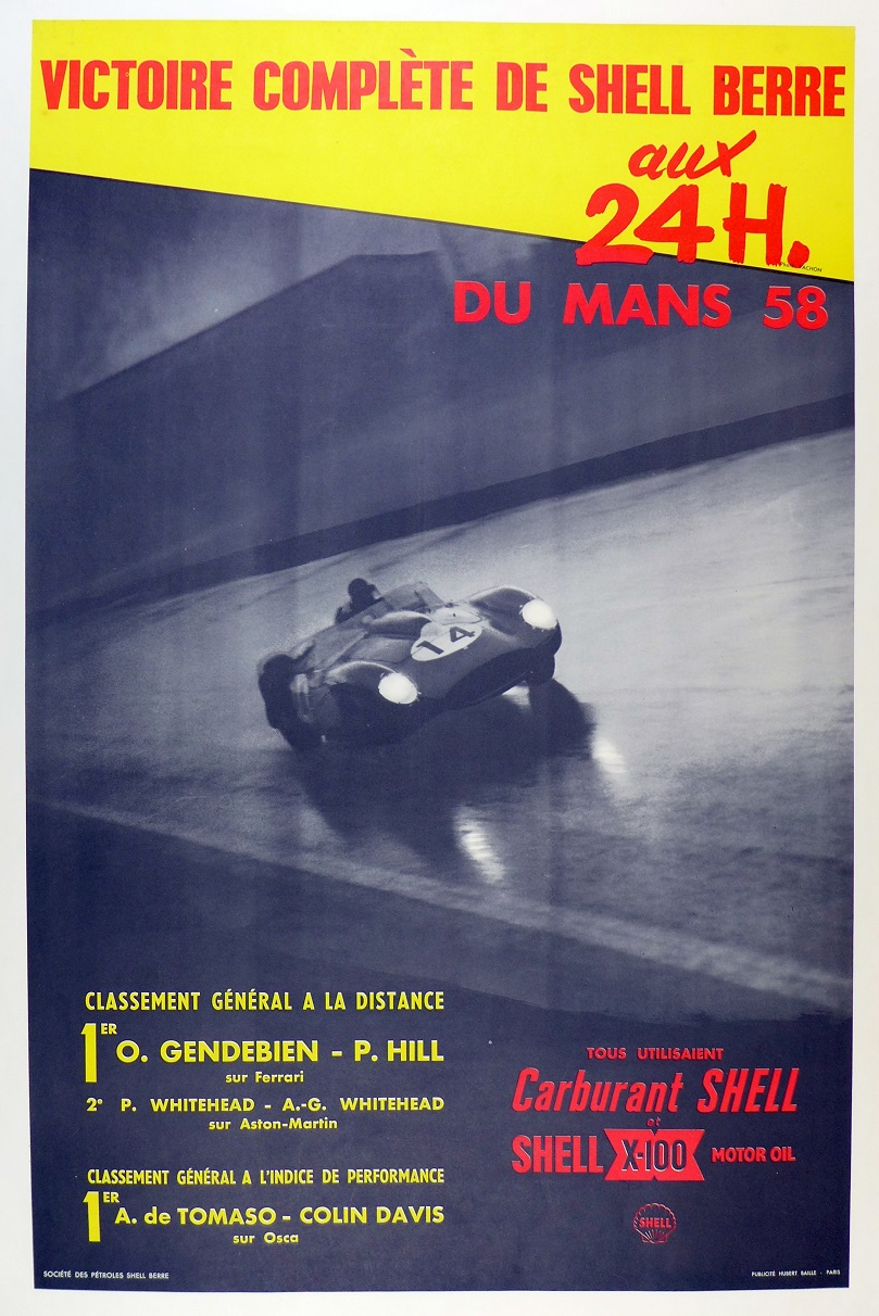 1958 Le Mans commemorative poster