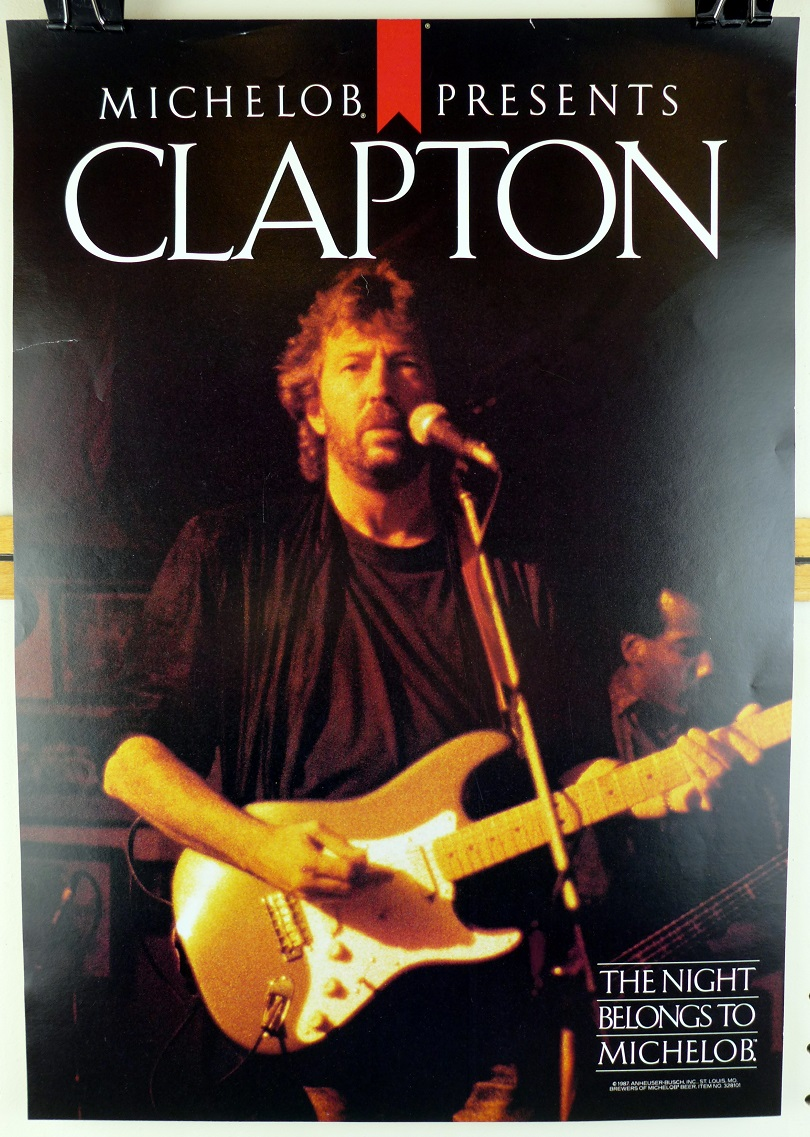 Michelob presents Eric Clapton 1987 original concert poster