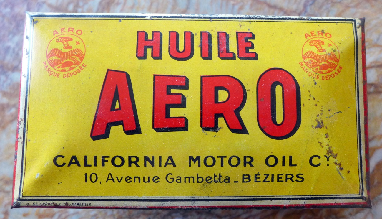 Aero Oil original vintage ink blotter