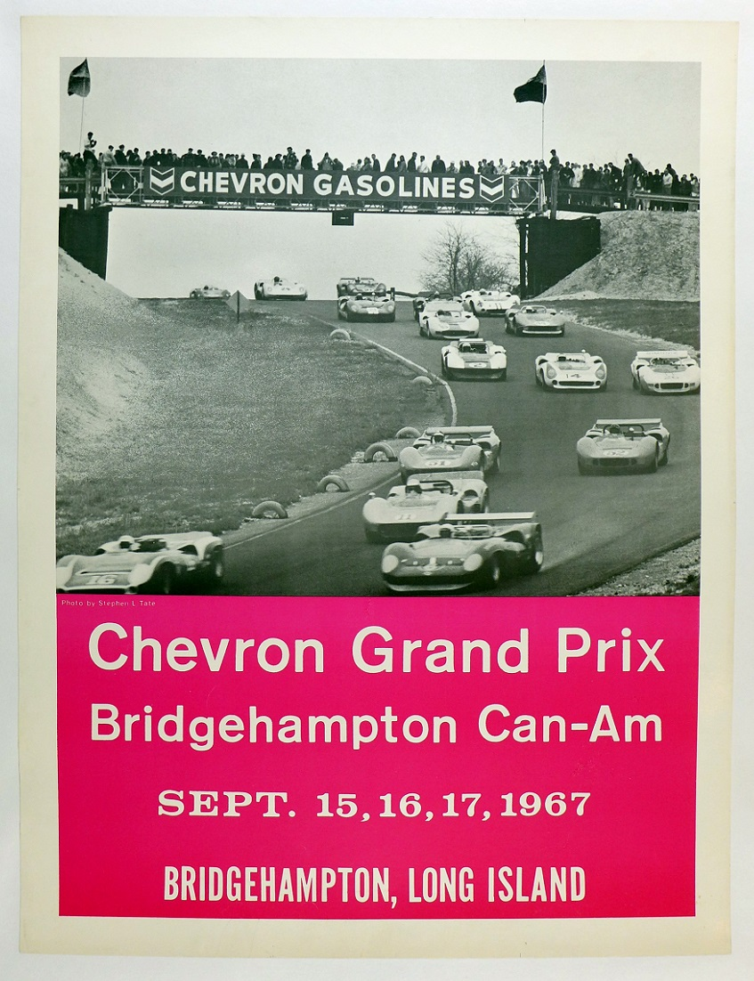 1967 Bridgehampton CanAm race event poster