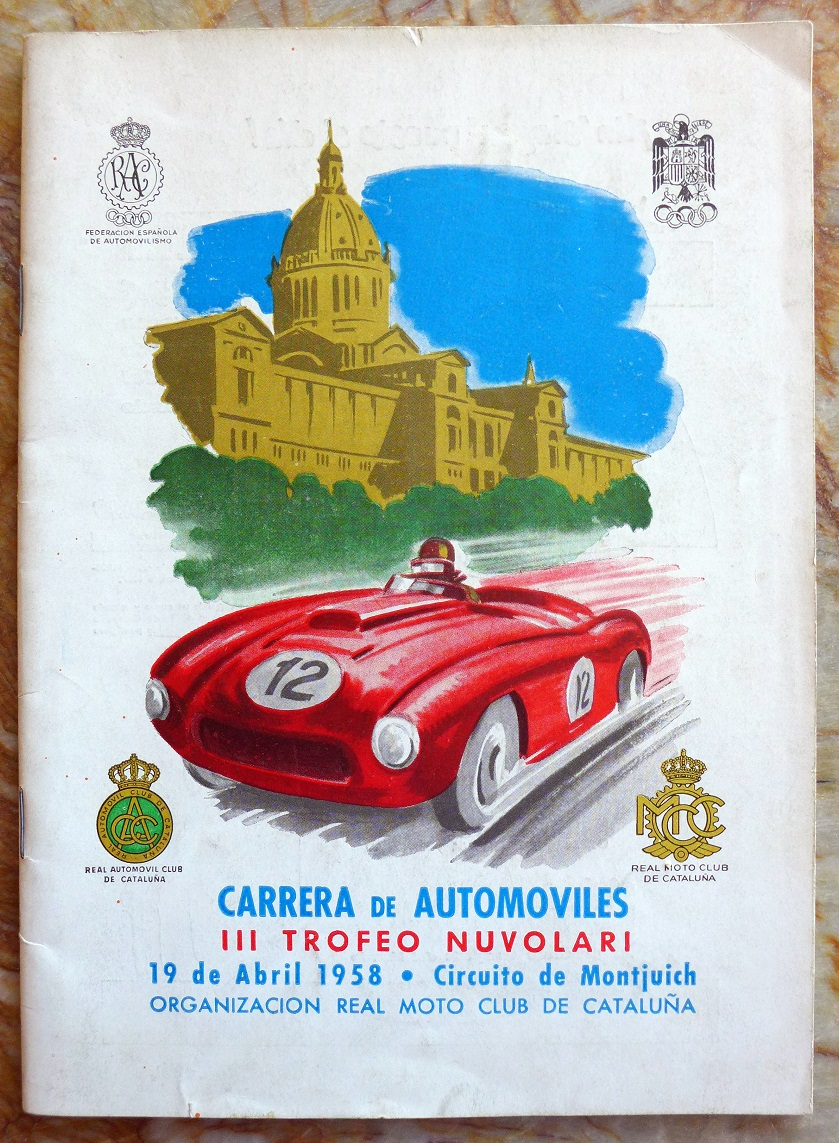 Carrera de Automoviles 1958 original vintage auto race program