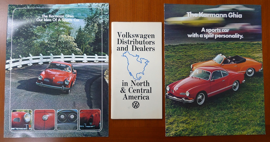 VW Karmann Ghia Factory sales literature