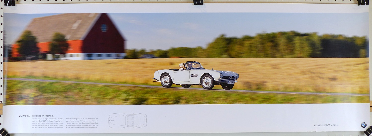 BMW 507 Factory mobile tradition heritage poster