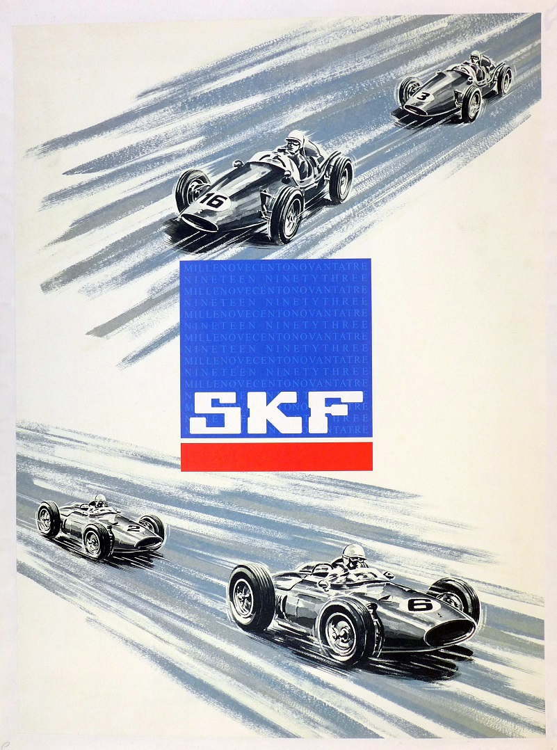 SKF bearings original vintage commemorative poster