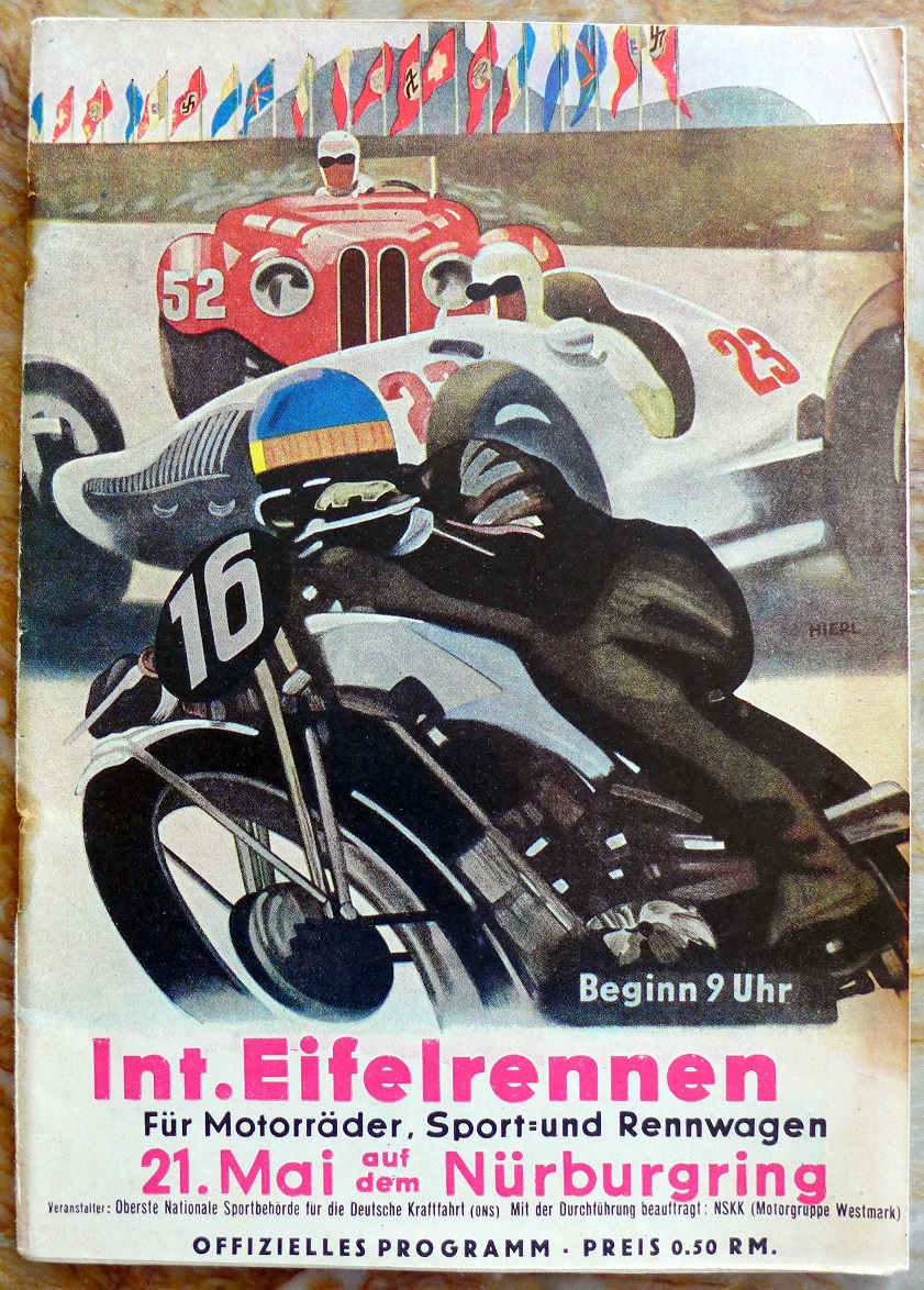 International Eifelrennen 1939 original vintage auto race program