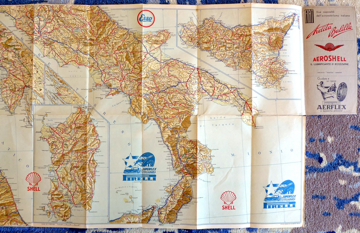 Italy road map 1933-34 RACI