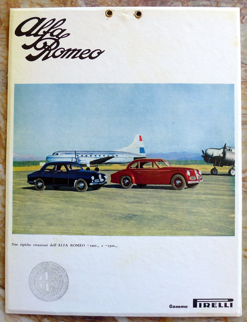 Alfa Romeo 1900 & 2500 window card