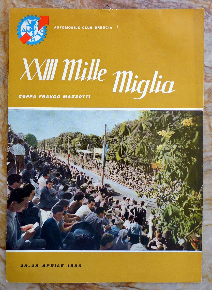 1956 Mille Miglia window card