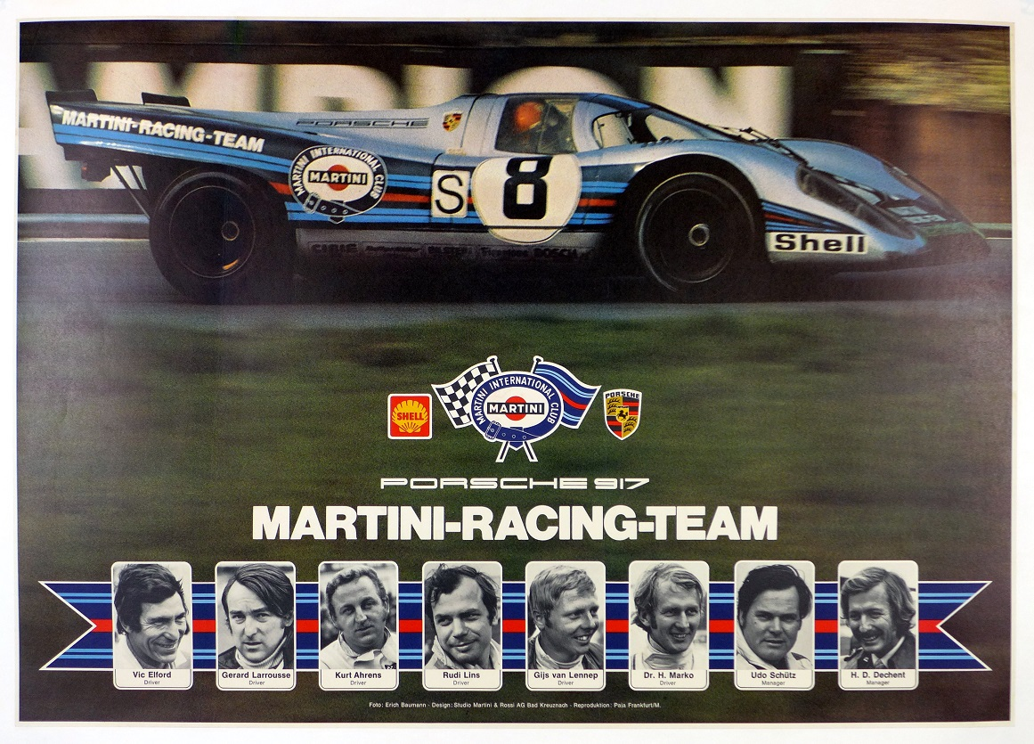 Martini Porsche 917 original vintage commemorative race poster