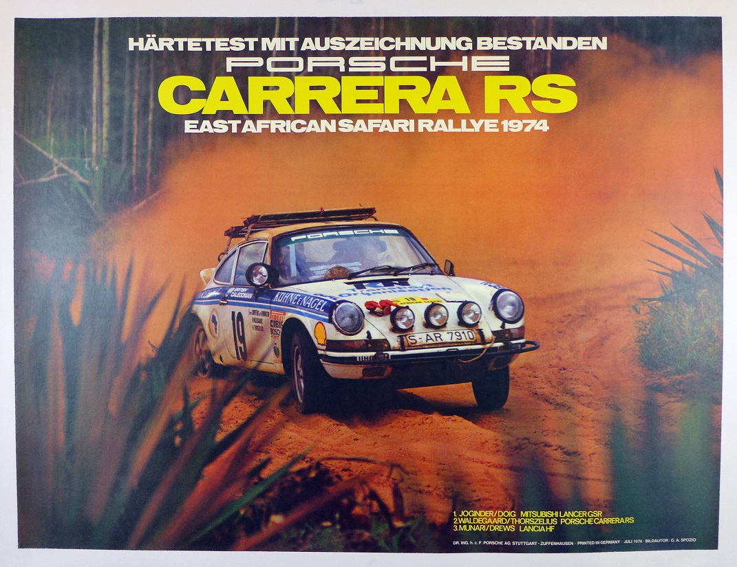 Carrera RS East Africa Safari Rallye 1974