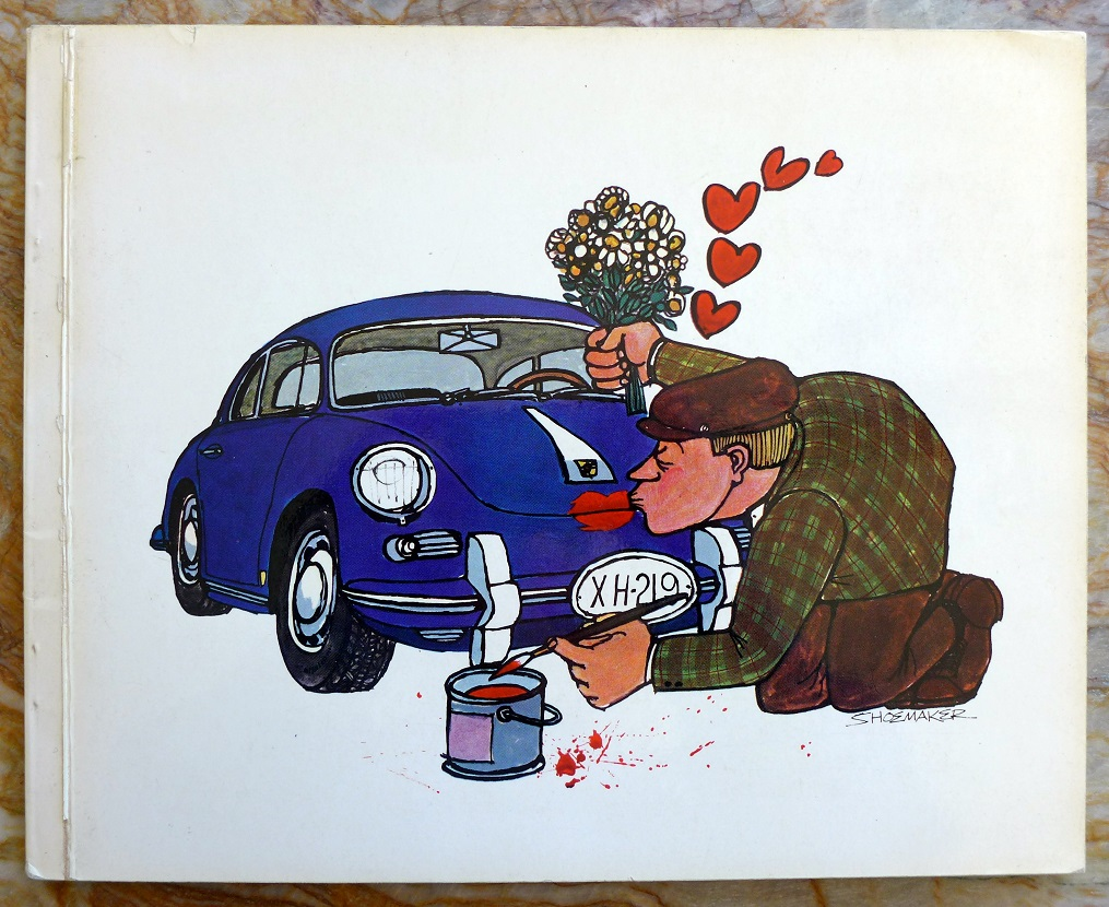 Shoemaker Porsche Cartoon book original vintage