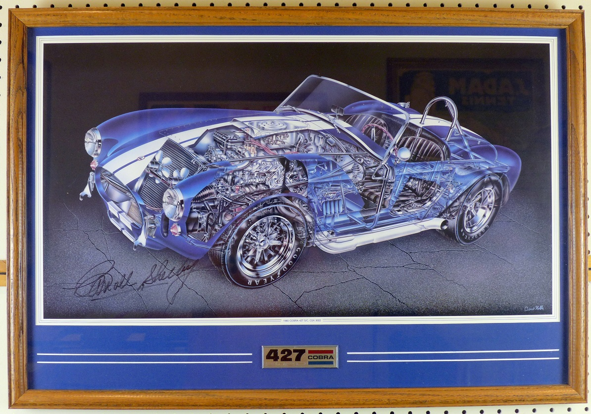 427 S/C Cobra cut-a-way art by Kimble, signed by Shelby