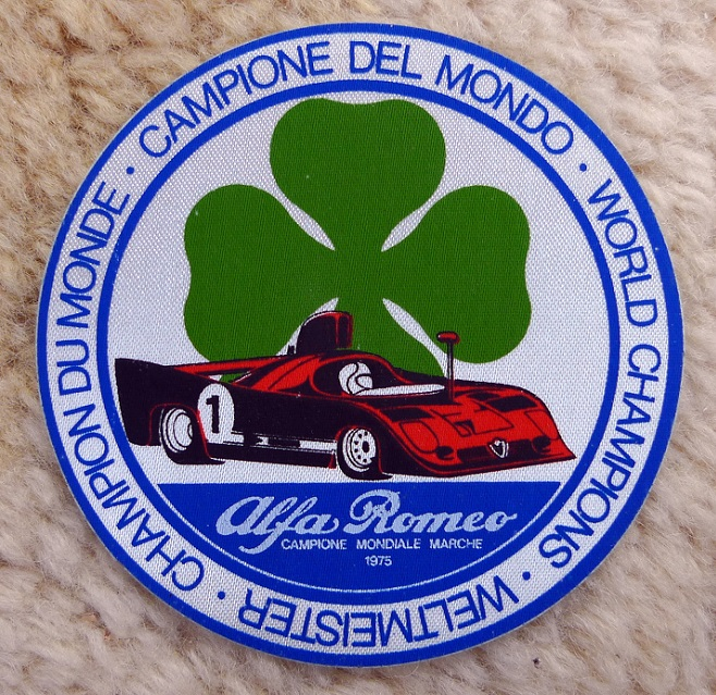Alfa Romeo 1975 World Champions original vintage decal