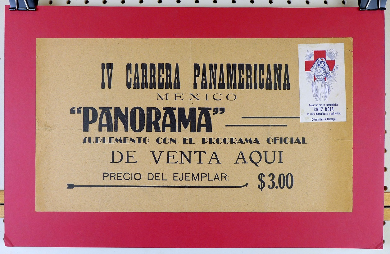 1953 Carrera Panamericana Panorama original vintage advertising