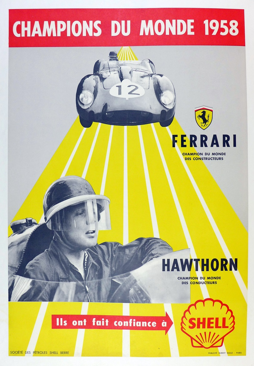 World Championship, 1958, Shell oil commemorative; Ferrari and Mike Hawthorn