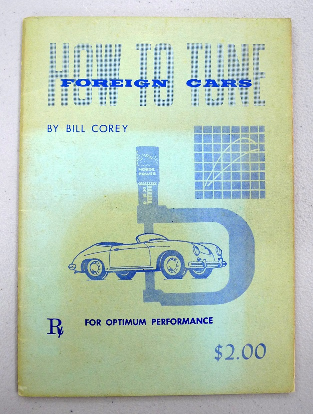 How to Tune Foreign Cars, book by Bill Corey 1958