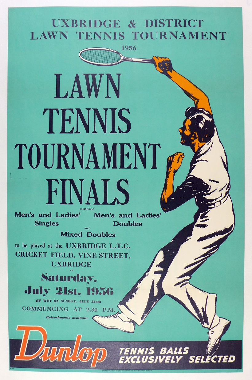 Lawn Tennis Finals 1956 original vintage advertising poster