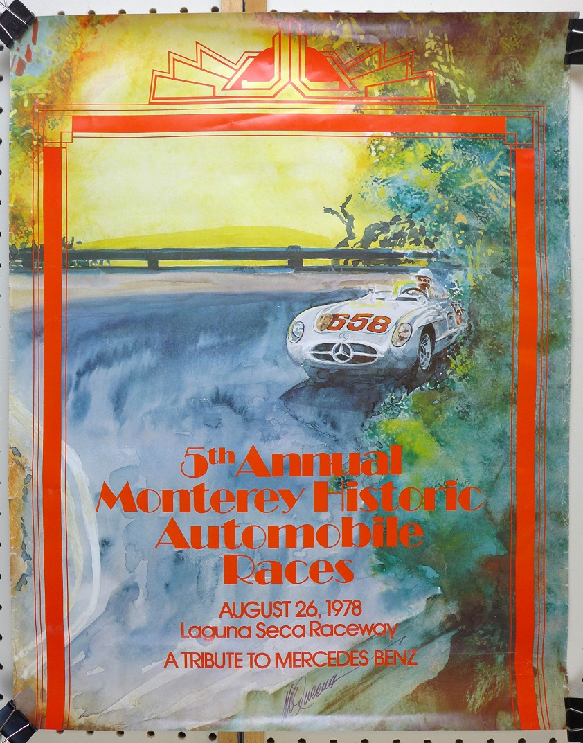 1978 Monterey Historic car races original vintage event poster