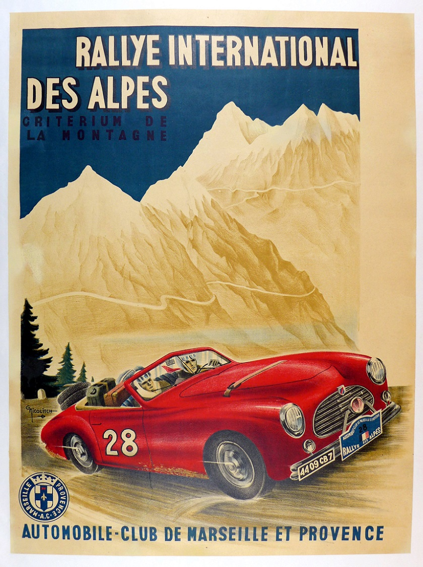 Rallye International des Alpes event poster