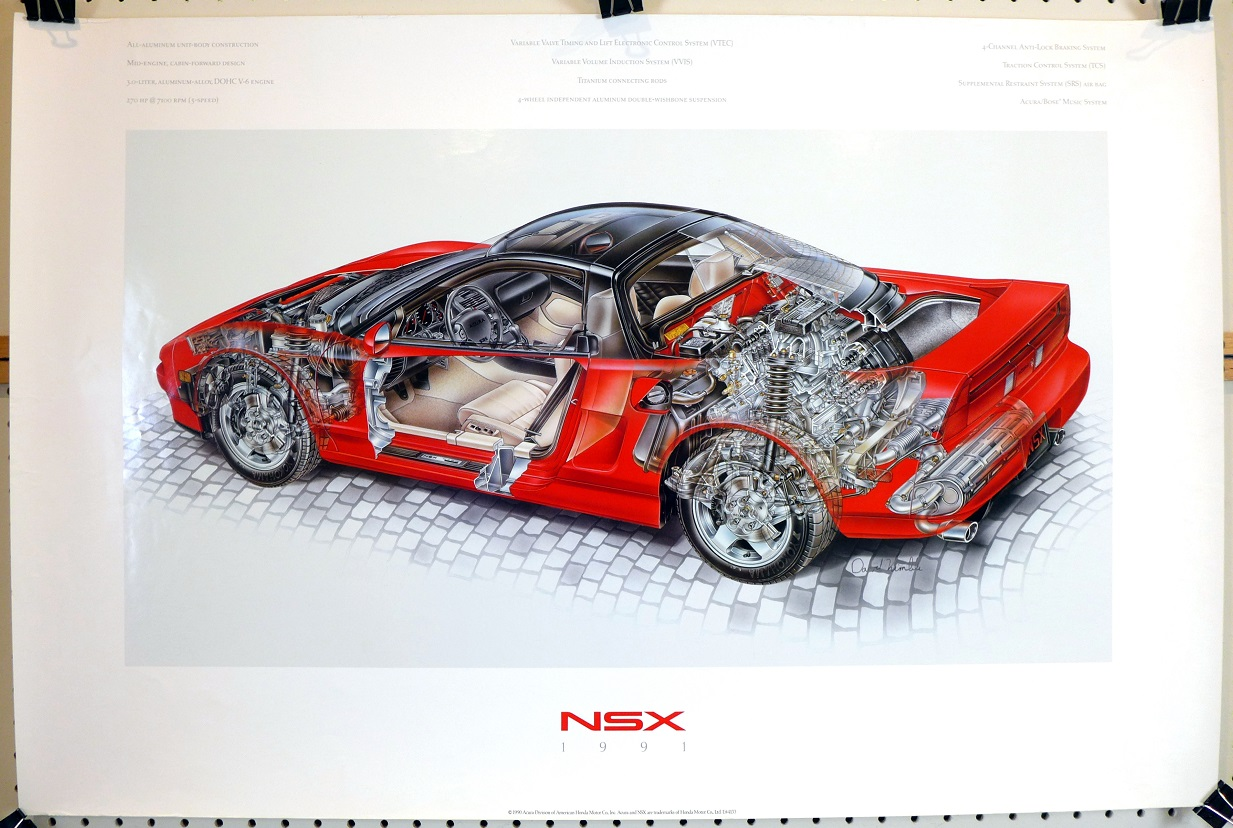 NSX 1991 original vintage advertising poster