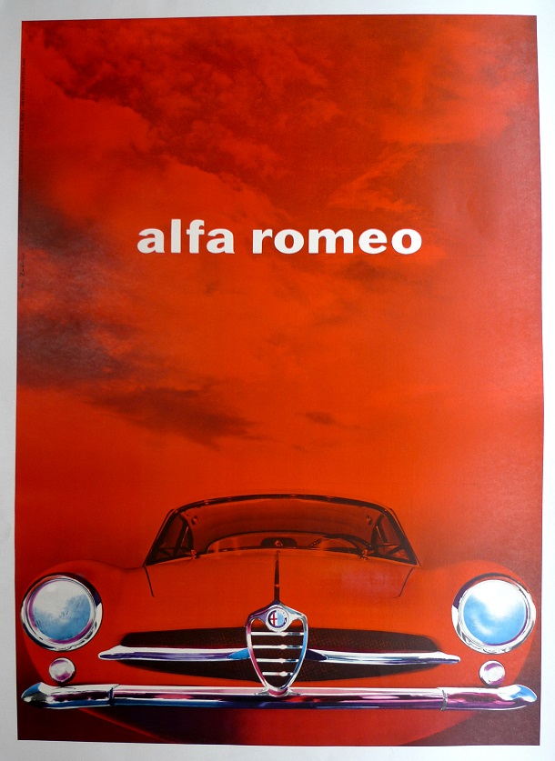 Alfa Romeo Sprint Speciale original vintage Factory advertising poster