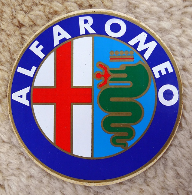 Alfa Romeo original vintage decal sticker