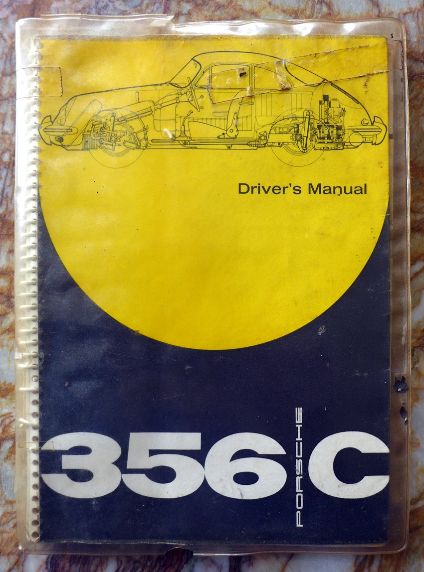 Porsche 356 C Driver's manual and pouch original