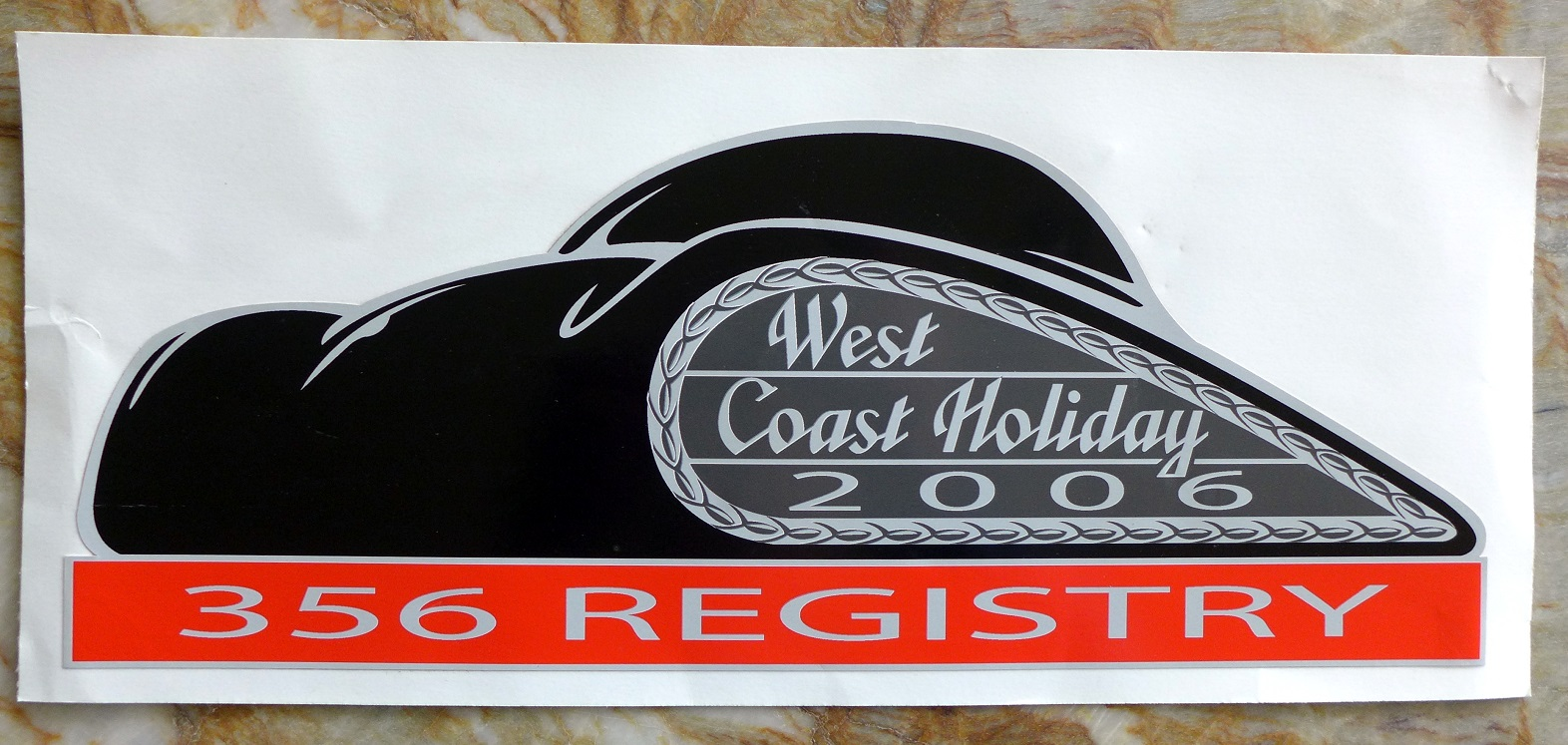 West Coast Holiday 2006 static cling decal