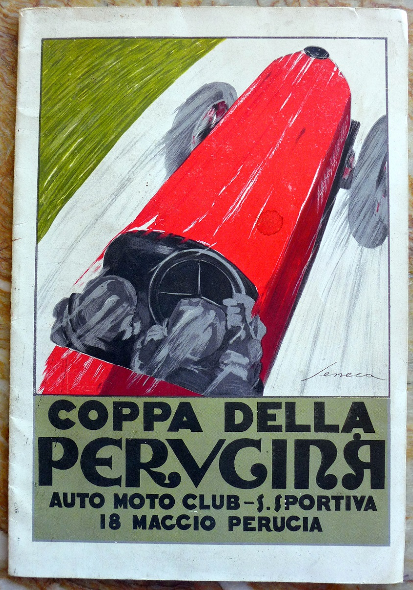 Coppa della Perugina 1924 original vintage auto race event regulations booklet