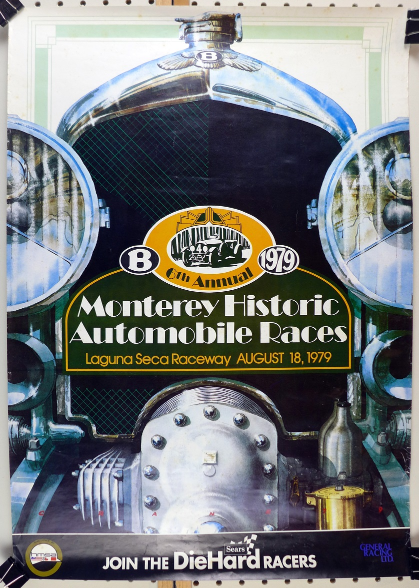 1979 Monterey Historic car races original vintage event poster