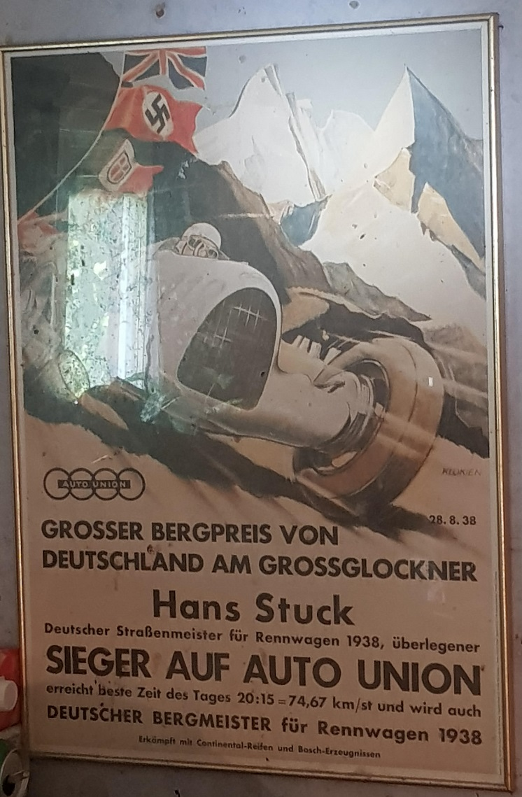 1938 German Grand Prix original vintage event poster