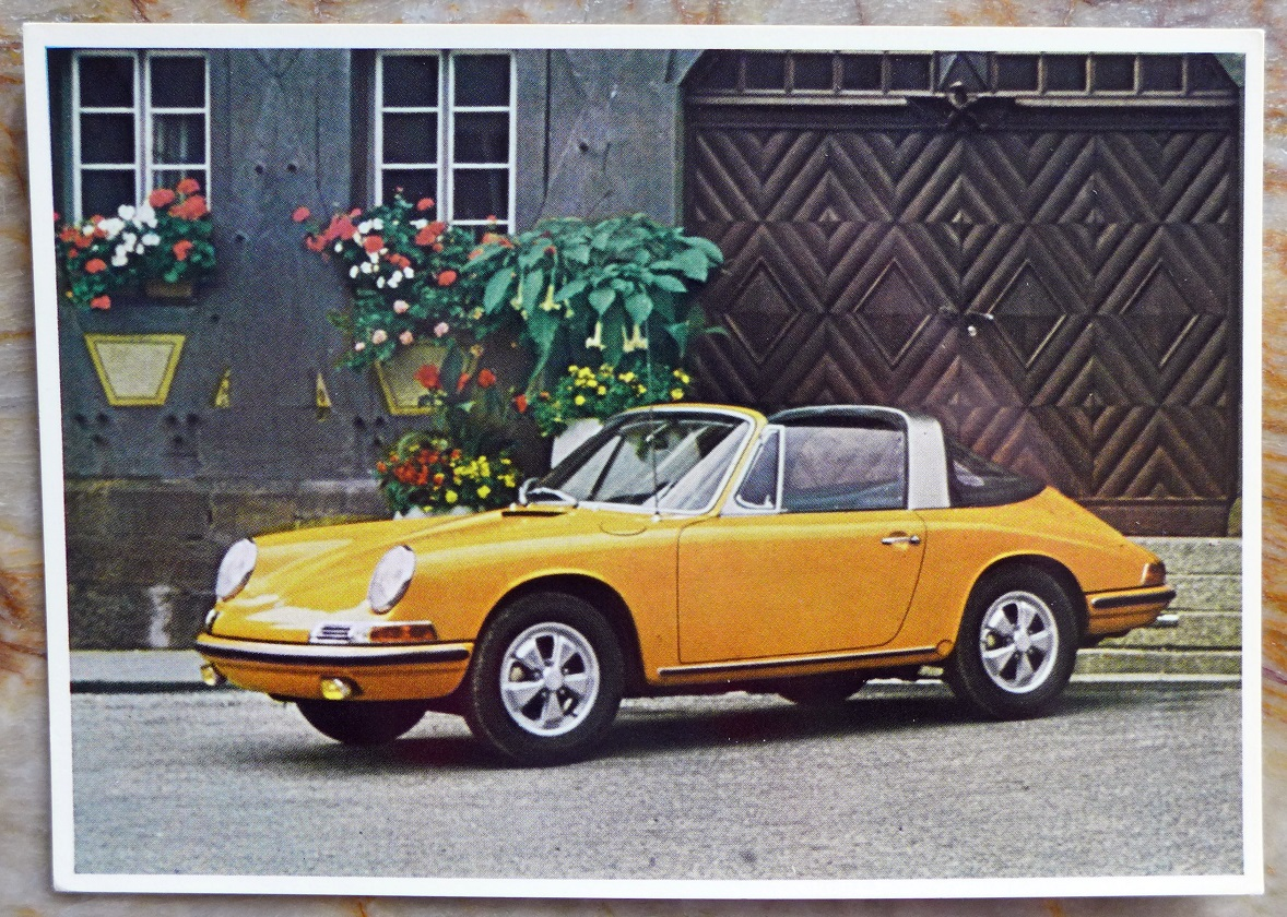 911 S Targa Porsche Factory post card