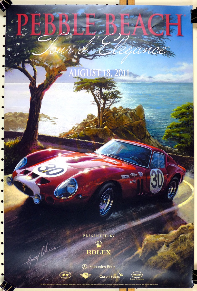 Pebble Beach Tour d'Elegance 2011 original event poster