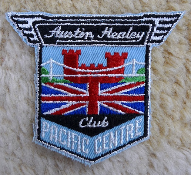 Austin Healey Pacific Centre region Canadian club original vintage patch