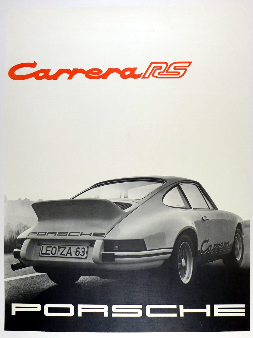 Carrera RS original vintage Porsche showroom poster