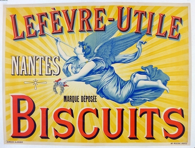 Lefevre-Utile original vintage advertising poster