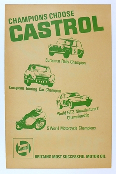 Castrol 1965 successes original vintage race commemorative poster