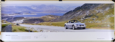 BMW Z4 3.0 si Factory mobile tradition heritage poster