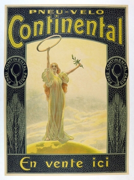 Continental tire original vintage advertising poster