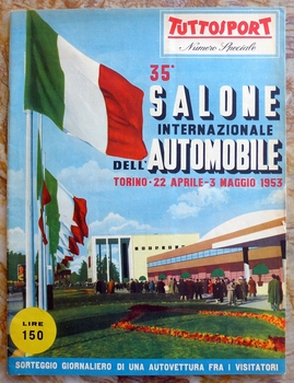 1953 Torino Auto Salon original vintage event program