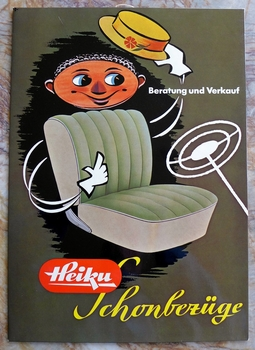 Heiku original vintage German seat maker window card