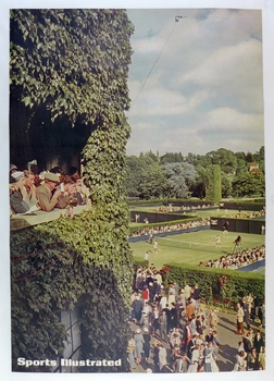 Wimbledon 1950's original vintage tennis advertising poster Sports Illustrated