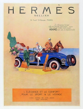 Hermes original vintage advertising poster