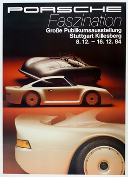 Porsche Fazination 1984 original exhibition poster 001 and 959