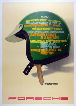 World Championships 1964 original vintage Porsche Factory commemorative poster
