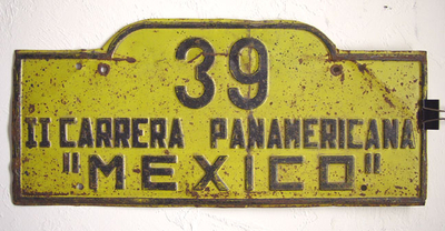 Carrera Panamericana car plates - Wanted