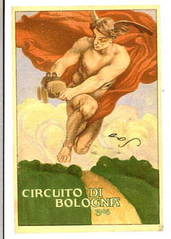 Circuito di Bologna 1908 original vintage post card